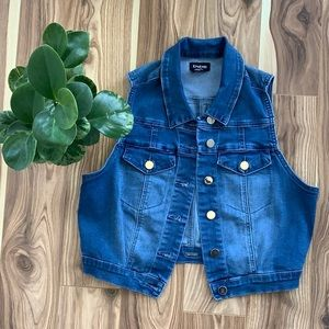 BEBE | denim vest sleeveless jean jacket